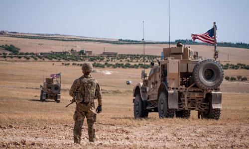 Lực lượng quân sự Mỹ đồn trú tại Syria. Ảnh: Reuters.