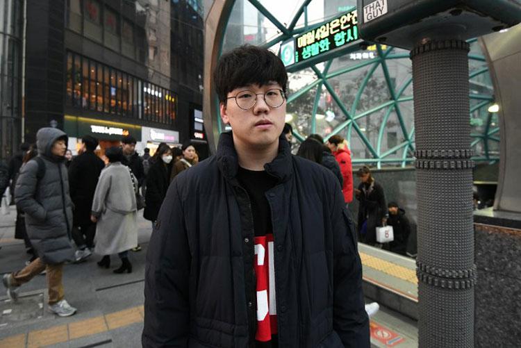 Sinh viên Hàn Quốc Namgung Jin. Ảnh: AFP.