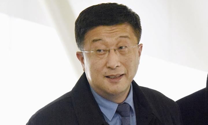 Kim Hyok-chol tại sân bay ởBắc Kinh ngày 19/2. Ảnh: Reuters.