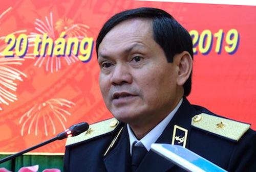 Chuẩn Đô đốc Hải Quân, Thiếu tướng Phạm Văn Luyện thông tin tại buổi gặp mặt báo chí sáng 20/2. Ảnh: Hoàng Thuỳ