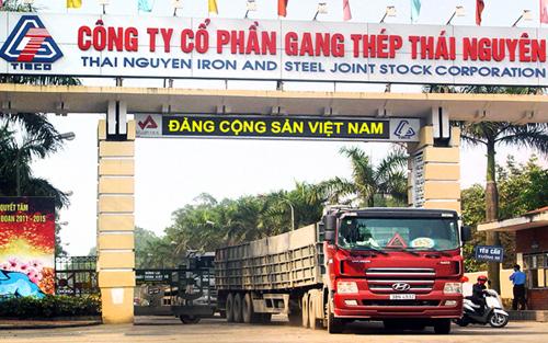 Công ty Gang thép Thái Nguyên. Ảnh: TISCO