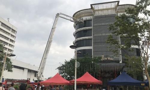 Hiện trường vụ cháy tại Malaysia. Ảnh: Star.