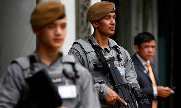 Các thành viên đặc nhiệm Gurkha. Ảnh: Reuters.