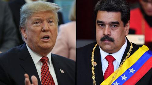 Tổng thống Mỹ Donald Trump (trái) và Tổng thống Venezuela Nicolas Maduro. Ảnh: AP.
