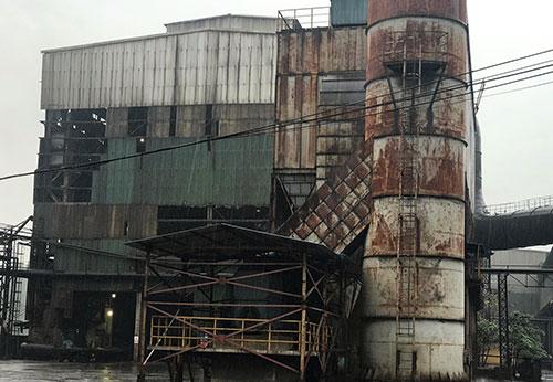 Dự án mở rộng giai đoạn 2 Nhà máy Gang thép Thái Nguyên đang dang dở. Ảnh: H.D