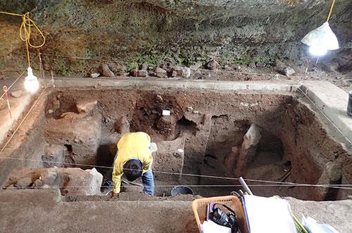 Hố khai quật sẽ được bảo tồn tại chỗ, nguyên trạng. Ảnh: Bảo tàng Thiên nhiên Việt Nam.