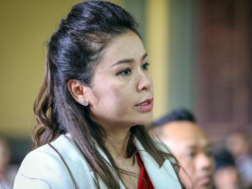 Bà Thảo tại tòa sáng nay. Ảnh: Thành Nguyễn.