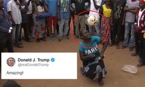 Tổng thống Mỹ trầm trồ trước màn tâng bóng của người phụ nữ châu Phi