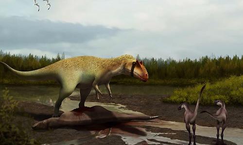 Tổ tiên của khủng long bạo chúa vẫn xếp dướiloài quái dị long trong chuỗi thức ăn. Ảnh: Ant Lab.