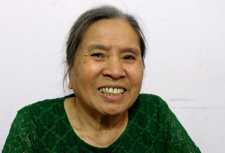 Bà Lê Thị Hân, nguyên Giám đốc Xí nghiệp dệt may Đông Xuân, lưu học sinh Việt Nam tại Triều Tiên năm 1965-1971. Ảnh:Hoàng Thùy