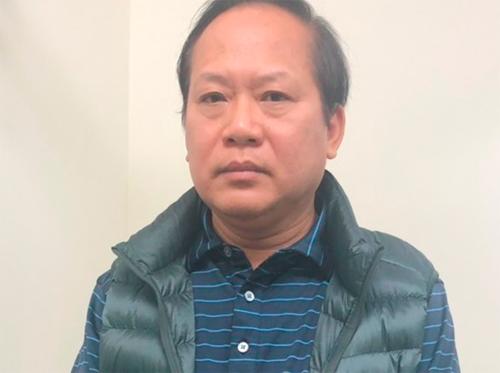 Ông Trương Minh Tuấn tại cơ quan điều tra. Ảnh: Bộ Công an