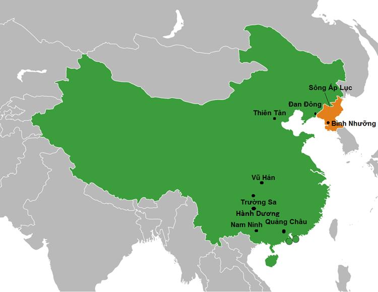 Dự đoán tuyến đường di chuyểncủa đoàn tàu chở Chủ tịch Kim Jong-un. Đồ họa: Hồng Hạnh.
