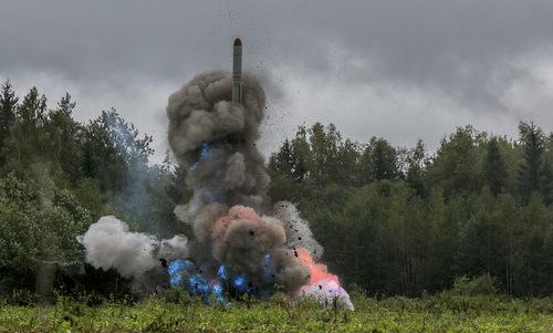 Tên lửa hành trình Iskander-K Nga khai hỏa hồi năm 2017. Ảnh: Bộ Quốc phòng Nga.