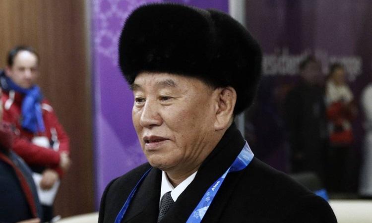 Phó chủ tịch đảng Lao động Triều TiênKim Yong-chol. Ảnh: Reuters.