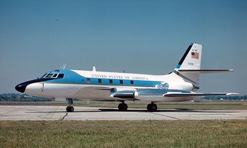Chuyên cơ Lockheed VC-140B Jetstar từng phục vụ Tổng thống Mỹ Lyndon B. Johnson. Ảnh: US Air Foce.