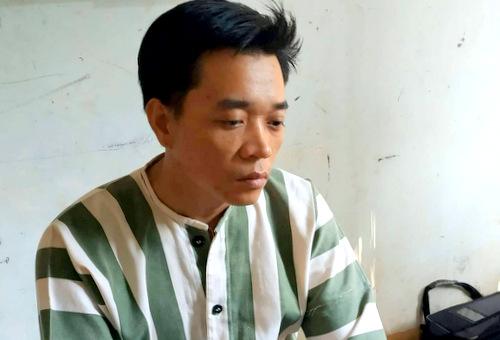 Phong tại cơ quan công an. Ảnh: Quang Bình.