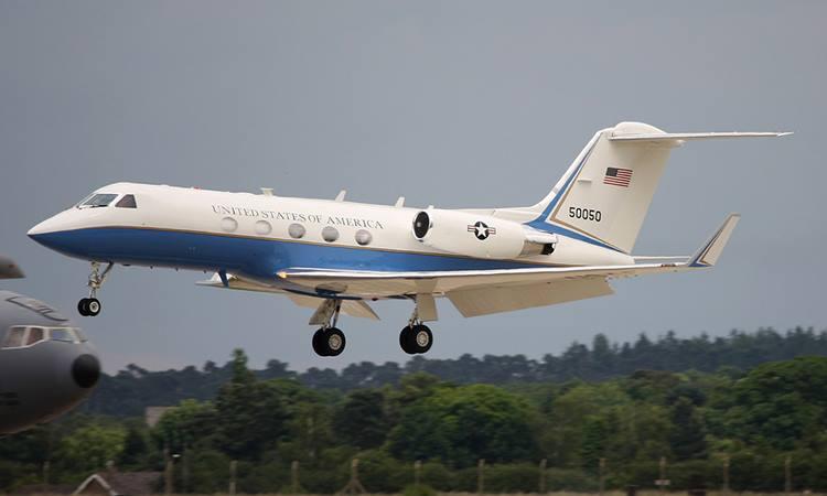 Chuyên cơ C-20C, phiên bản quân sự của dòng máy bay phản lực Gulfstream III. Ảnh: PF.