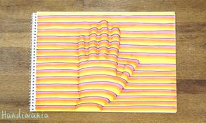 Cách vẽ bàn tay 3D