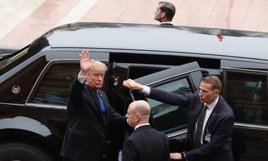 Mật vụ Mỹ bảo vệ Tổng thống Trump tại Hà Nội