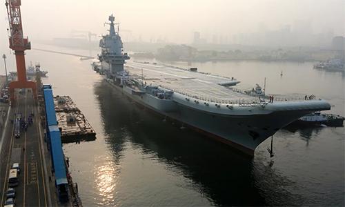 Tàu sân bay nội địa của Trung Quốc Type 001A. Ảnh: Reuters.