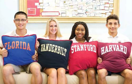Trên 98% học sinh sau tốt nghiệp được nhận vào các trường đại học danh tiếng hàng đầu.