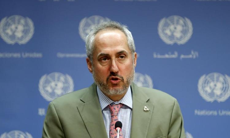 Stephane Dujarric, phát ngôn viên của Tổng thư ký Liên Hợp Quốc. Ảnh: Reuters.