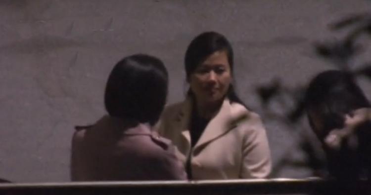 Hình ảnh ghi lại ở nhà ga Nam Ninh cho thấy Hyon Song-wol nằm trong phái đoàn tháp tùng ông Kim Jong-un trên chuyến tàu đến Việt Nam. Ảnh: JNN.