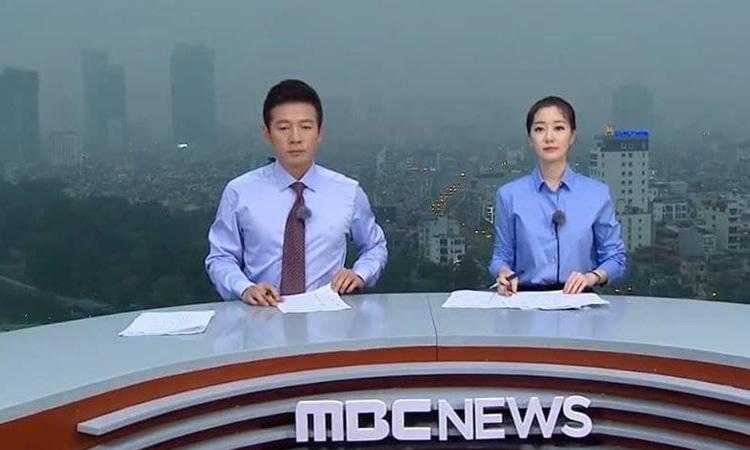 Thay ảnh đài Hàn Quốc dựng trường quay trên nóc tòa nhà cao tầng