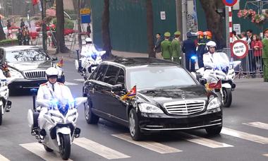 'Quái thú' và S600 Pullman đưa lãnh đạo Mỹ - Triều đến cuộc gặp thượng đỉnh