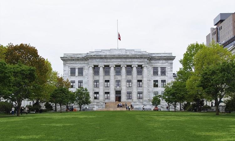 Tòa nhà chính của trường Y thuộc Đại học Harvard. Ảnh: The Harvard Crimson