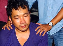 Võ Vinh Tân khi bi bắt giữ. Ảnh: Đông Tùng