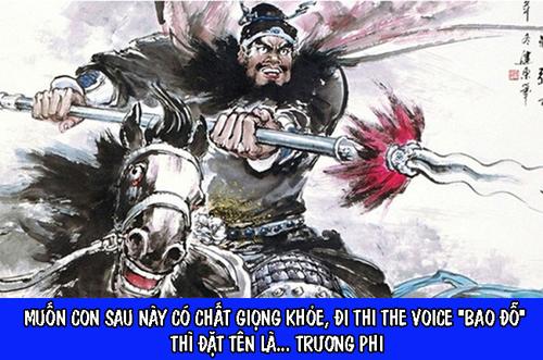 Còn muốn có sức mạnh hơn người, giọng khỏe khỏi bàn cãi thì tổ tư vấn online chọn tên Trương Phi.