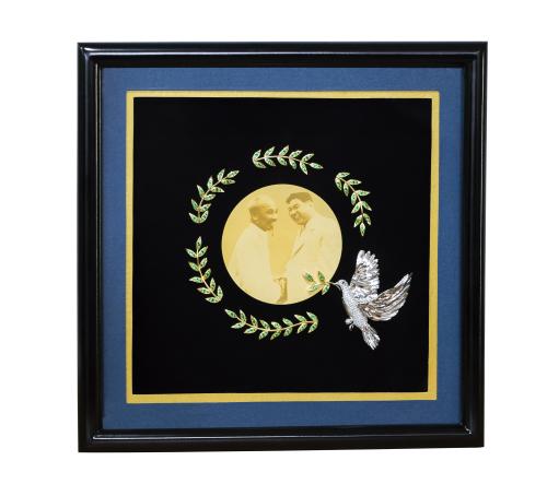 Bức tranh Việt Nam tặng phái đoàn Triều Tiên.