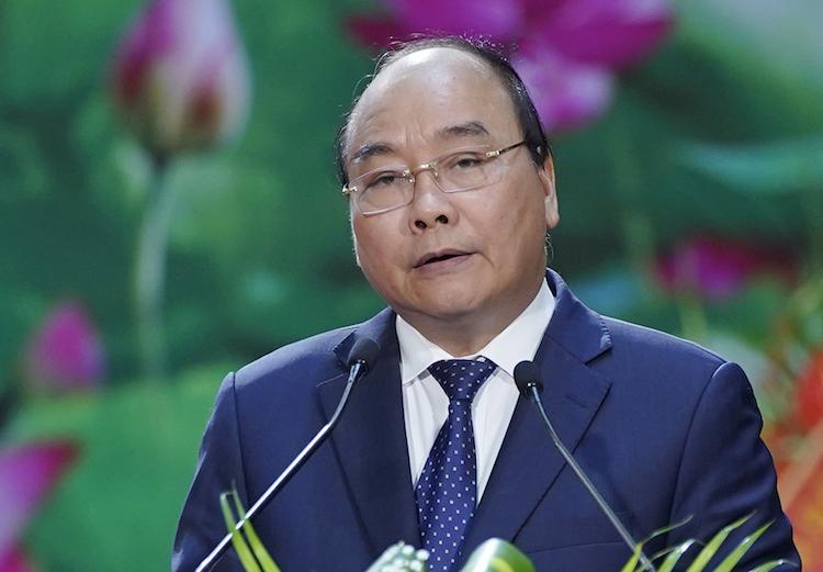 Thủ tướng Nguyễn Xuân Phúc phát biểu chỉ đạo tại lễ kỷ niệm 60 năm Bộ đội Biên phòng sáng 2/3. Ảnh: Quang Hiếu