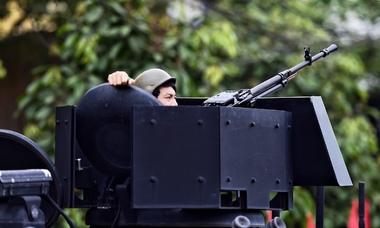 An ninh nhiều lớp ở Đồng Đăng trước giờ ông Kim lên tàu