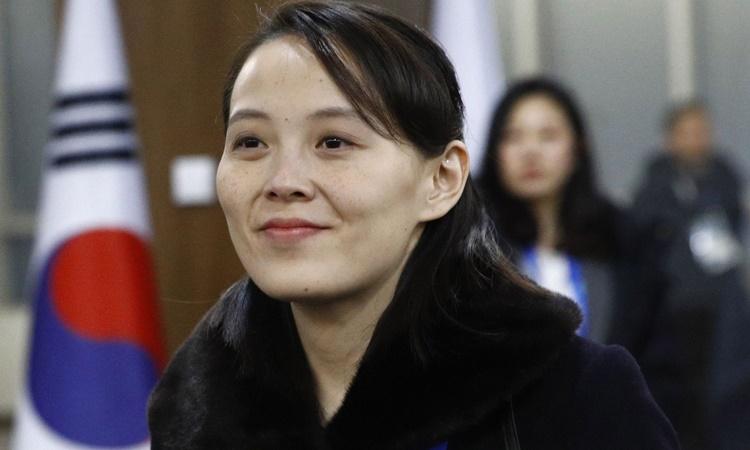Kim Yo-jong tại Hàn Quốc tháng 2/2018. Ảnh: AFP.