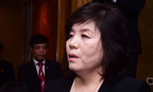 Thứ trưởng Ngoại giao Triều Tiên Choe Son-hui. Ảnh: Giang Huy.