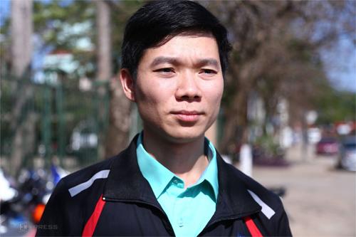 Bị cáo Hoàng Công Lương tại phiên sơ thẩm một tháng trước. Ảnh: Phạm Dự.