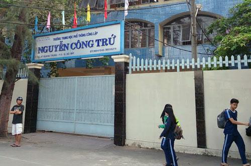 Trường THPT Nguyễn Công Trứ. Ảnh: Mapio.