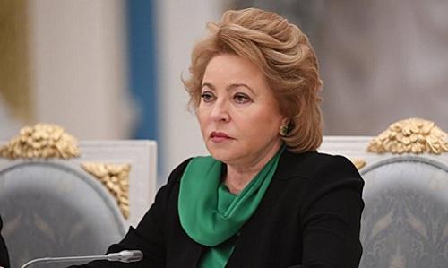 Chủ tịch Hội đồng Liên bang (Thượng viện) NgaValentina Matvienko.