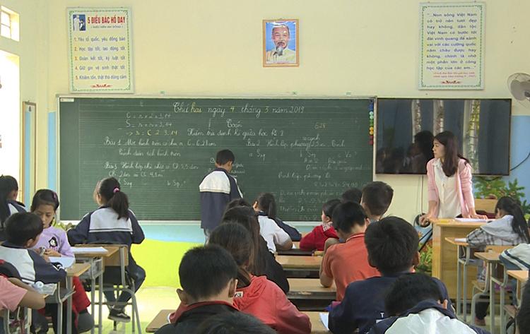 Lớp 5A được thay giáo viên chủ nhiệm từ ngày 4/3. Ảnh: Huy Mạnh