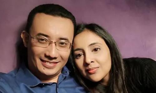 Nazrin Hassan, CEO công ty Cradle Fund và vợ, Samirah Muzaffar. Ảnh: Facebook.