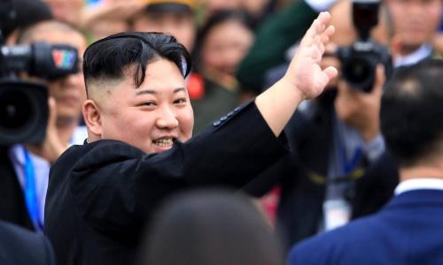 Chủ tịch Triều Tiên Kim Jong-un khi đến Việt Nam. Ảnh: Hữu Khoa.