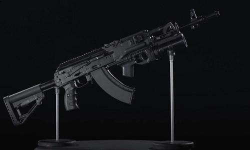 Mẫu súng Kalashnikov AK-203 mới của Nga. Ảnh: RT.