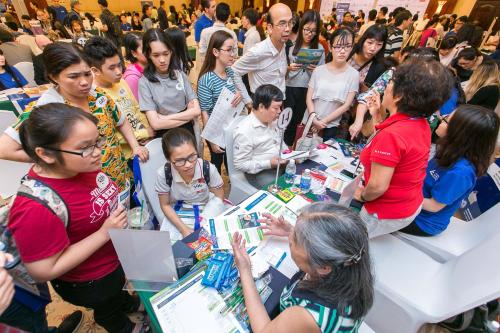 Triển lãm du học mùa xuân 2018 quy tụ hơn 2.000 khách tham dự.