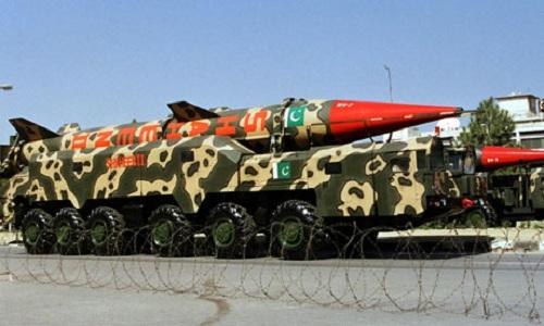 Một tên lửa chiến thuật có thể mang đầu đạn hạt nhân của Pakistan. Ảnh: Indian Defense Review.