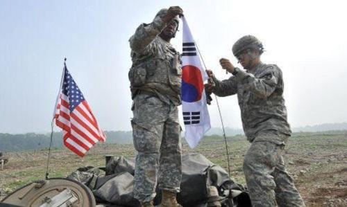 Lính Mỹ trong một cuộc tập trận chung với Hàn Quốc n ăm 2018. Ảnh: AFP.