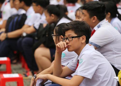 Học sinh dự kỳ thi tuyển sinh lớp 10 năm học 2018-2019 tại TP HCM. Ảnh: Quỳnh Trần.
