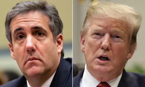 Luật sư Michael Cohen (trái) và Tổng thống Mỹ Trump. Ảnh: AFP.