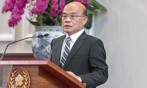 Người đứng đầu cơ quan hành pháp Đài Loan Tô Trinh Xương. Ảnh: CNA.